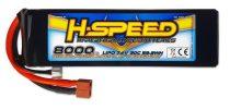 H-Speed lipo akkumulátor 8000mAh 7.4V 30C