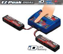 Traxxas DUAL EZ Peak Plus töltő 2db. 5000 11,1V Lipo akkumulátorral