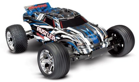 Traxxas Rustler 2WD RTR-kék