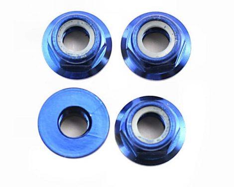 Kerékanya 5mm kék alu
