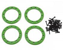 Traxxas Beadlock gyűrű szett alu - zöld